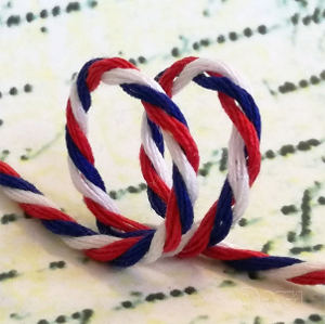 Document twisted cord tricolours